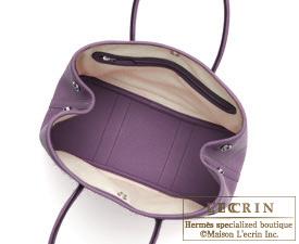 Hermes Garden Party bag TPM Cassis Fjord leather Silver hardware