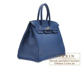 Hermes Birkin bag 35 Blue de malte/Dark blue Togo leather Silver hardware