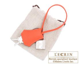 Hermes Birkin bag 30 Capucine Togo leather Silver hardware