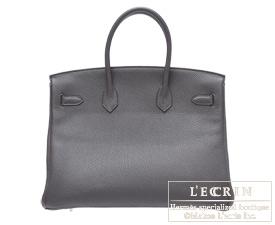 Hermes Birkin bag 35 Graphite Togo leather Silver hardware