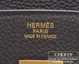 Hermes Birkin bag 35 Graphite Togo leather Gold hardware
