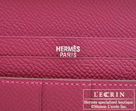 Hermes Bearn Soufflet Tosca Epsom leather Silver hardware