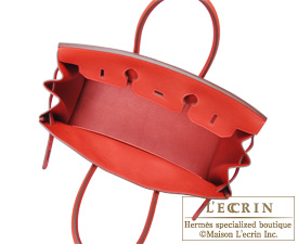 Hermes Birkin bag 35 Geranium/Geranium red Togo leather Silver hardware