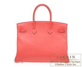 Hermes Birkin bag 35 Rose jaipur Clemence leather Silver hardware
