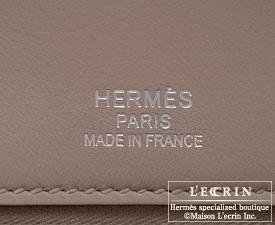 Hermes Birkin Ghillies bag 35 Argile Swift leather Silver hardware