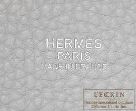 Hermes Birkin bag 30 Pearl grey/White Clemence leather Silver hardware