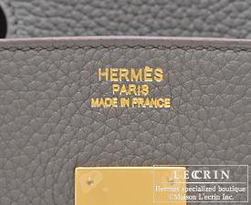 fake kelly - hermes birkin bag 30 etain clemence leather gold hardware