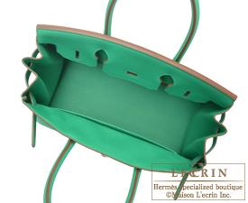 Hermes Birkin bag 30 Menthe Clemence leather Silver hardware