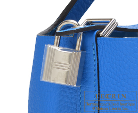 Hermes Picotin Lock bag PM Blue hydra Clemence leather Silver hardware