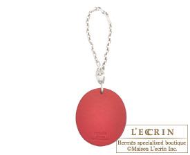 Hermes LUCKY BUG Anis green/Orange Box calf leather Silver hardware