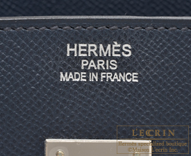 3b3aaf18a6 ... Hermes Birkin bag 35 Blue indigo Indigo blue Epsom leather Silver  hardware
