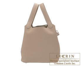 Hermes Birkin bag 30 Gris tourterelle/Mouse grey Clemence leather Silver hardware