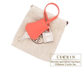 Hermes Birkin bag 25 Rose jaipur Epsom leather Silver hardware