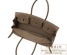 b30aa624a50 Hermes JPG Shoulder Birkin bag 30 Etoupe grey Taupe grey Togo leather  Silver ...