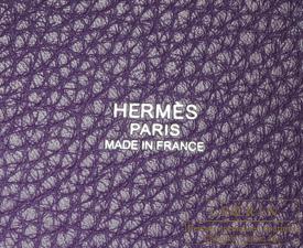 Hermes Birkin bag 30 Ultraviolet Clemence leather Silver hardware