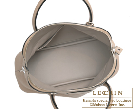 Hermes Bolide bag 31 Gris tourterelle Clemence leather Silver hardware