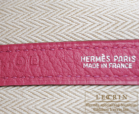 Hermes Garden Party bag TPM Tosca Fjord leather Silver hardware