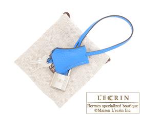 Hermes Birkin bag 35 Blue hydra Clemence leather Silver hardware ...