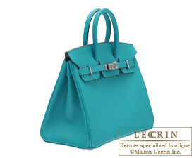 Hermes Birkin bag 25 Blue paon Epsom leather Silver hardware