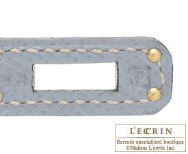 Hermes Birkin bag 25 Blue lin Epsom leather Gold hardware