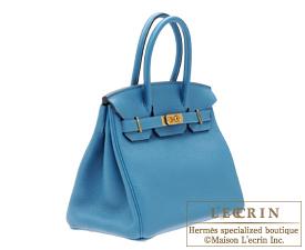 f86b59d17a93 ... Hermes Birkin bag 30 Cobalt Togo leather Gold hardware