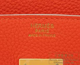 Hermes Birkin bag 30 Capucine Togo leather Gold hardware