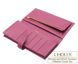 Hermes Bearn Soufflet Tosca Epsom leather Gold hardware