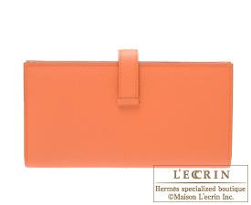 Hermes Bearn Soufflet Mango Epsom leather Gold hardware