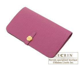 Hermes Dogon GM Tosca Togo leather Gold hardware