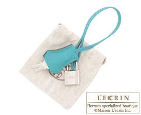 Hermes Birkin bag 35 Blue paon Epsom leather Silver hardware