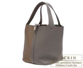 Hermes Birkin bag 30 Etoupe grey/Etain Clemence leather Silver hardware