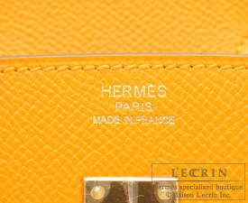 Hermes Birkin bag 25 Jaune d'or Epsom leather Gold hardware