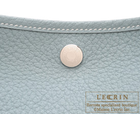 Hermes Garden Party bag PM Ciel Country leather Silver hardware