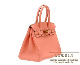 Hermes Birkin bag 30 Crevette Clemence leather Gold hardware