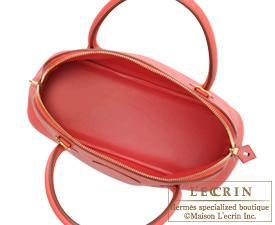 Hermes Bolide bag 31 Bougainvillier Clemence leather Gold hardware