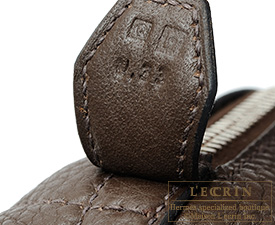 Hermes Bolide bag 31 Cafe Clemence leather Silver hardware