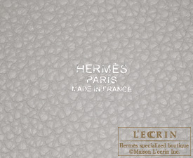 Hermes Picotin Lock Casaque bag GM Pearl grey/ White Clemence leather Silver hardware