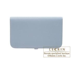Hermes Dogon GM Blue lin/Linen blue Togo leather Silver hardware