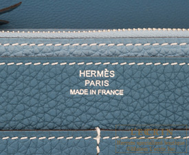Hermes Dogon GM Cobalt/Blue jean Togo leather Silver hardware