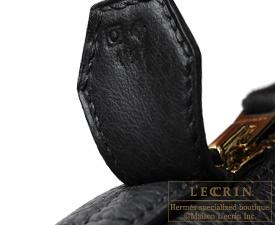 Hermes Bolide bag 35 Black Clemence leather Gold hardware