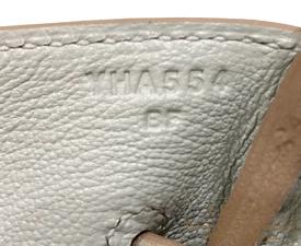 Hermes Birkin bag 35 Pearl grey/Gris perle Togo leather Silver hardware