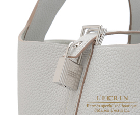 Hermes Birkin bag 30 Pearl grey/Gris perle Clemence leather Silver hardware