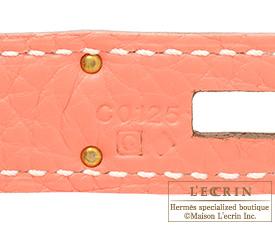 Hermes Birkin bag 35 Crevette Clemence leather Gold hardware