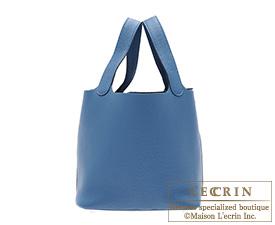 Hermes Birkin bag 30 Blue thalassa Clemence leather Silver hardware