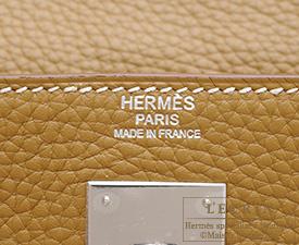 Hermes Kelly bag 32 Retourne Kraft Clemence leather Silver hardware