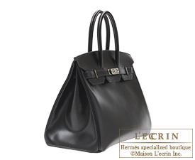 Hermes Birkin bag 35 Black Box calf leather Silver hardware