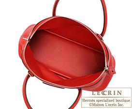 Hermes Bolide bag 31 Rouge casaque Clemence leather Silver hardware