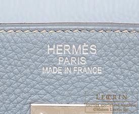 Hermes Birkin bag 40 Blue lin Togo leather Silver hardware
