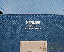 f5b52230ec77 Hermes Birkin bag 30 Blue thalassa Epsom leather Silver hardware ...