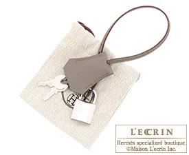 Hermes Birkin bag 35 Etain/Etain grey Epsom leather Silver hardware